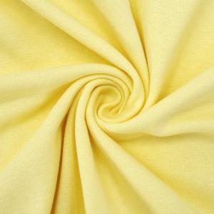 Ткань на отрез рибана с лайкрой М-2013 цвет светло-желтый