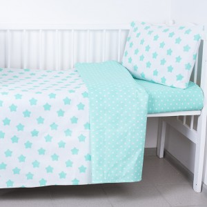 Постельное белье в детскую кроватку из бязи 118