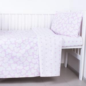Постельное белье в детскую кроватку 105 Микки розовый