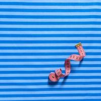Ткань на отрез бязь плательная 150 см 1552/13 цвет синий
