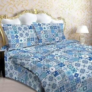 Бязь о/м 120 гр/м2  150 см 112/1 Мозаика цвет синий