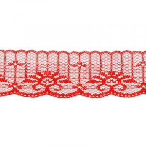 Кружево капрон 45 мм/10 м цвет 723 красный