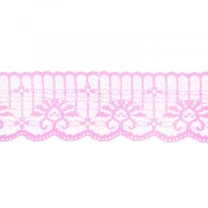 Кружево капрон 45 мм/10 м цвет 723 розовый