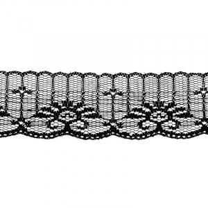 Кружево капрон 45 мм/10 м цвет 723 черный