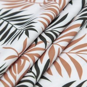Ткань на отрез супер софт 2400 Монстера цвет кирпичный