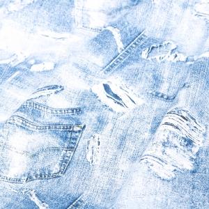 Ткань на отрез бязь плательная 150 см 11334/1 Джинса