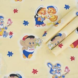 Пеленка бязь c детским рисунком 3 120/73