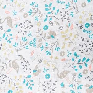 Ткань на отрез бязь плательная 150 см 953 Фламинго в цветах