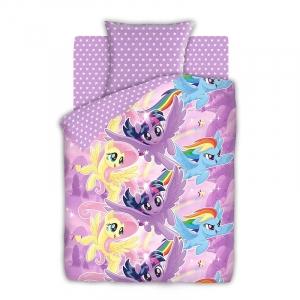 КПБ 1.5 бязь My Little Pony (50х70) рис. 8920-1/8921-1 Небесные пони