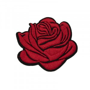 Термоаппликации ТАВ_Ц 1985 красная роза 6,5*7,5см