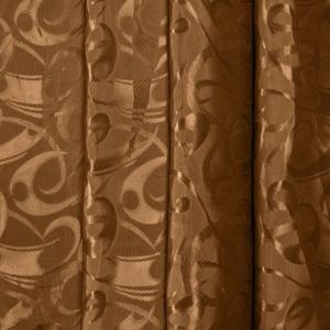 Портьерная ткань 150 см на отрез 10-2 цвет коричневый