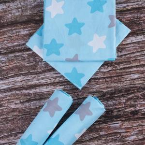 Набор детских пеленок поплин 4 шт 73/120 см 1798/3 цвет бирюза
