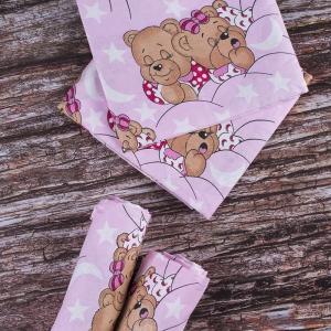 Набор детских пеленок бязь 4 шт 73/120 см 1286/2 Соня розовый
