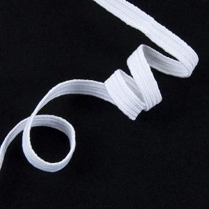 Резинка с39 7-8 мм цвет белый 8/8 уп 10 м