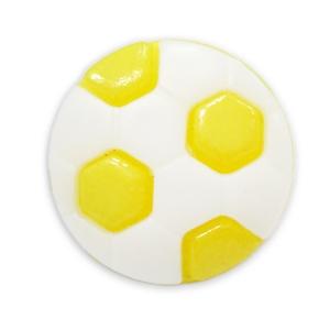 Пуговица детская сборная Мяч 13 мм цвет желтый упаковка 24 шт
