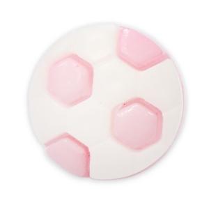 Пуговица детская сборная Мяч 13 мм цвет св-розовый упаковка 24 шт