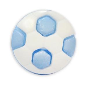 Пуговица детская сборная Мяч 16 мм цвет голубой упаковка 24 шт