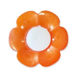 Пуговица детская сборная Цветок 17 мм цвет оранжевый упаковка 24 шт
