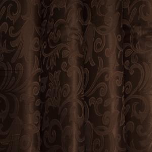 Портьерная ткань 150 см 9 цвет шоколад вензель