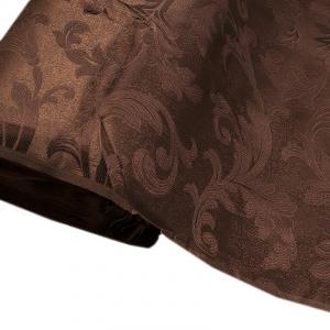 Портьерная ткань 150 см Дебют GLL989-43 темно-коричневый вензель