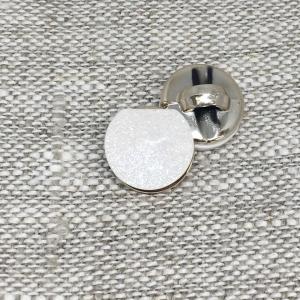 Пуговица ПР186 12 мм белая блеск уп 12 шт