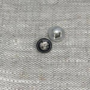 Пуговица ПР190 10 мм черная герб уп 12 шт