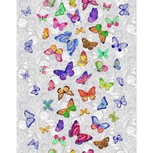 Полотно вафельное 50 см набивное арт 60 Тейково рис 5634 вид 1 Бабочки