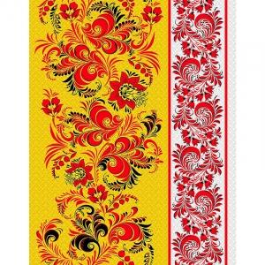 Полотно вафельное 50 см набивное арт 60 Тейково рис 5640 вид 1 Хохлома