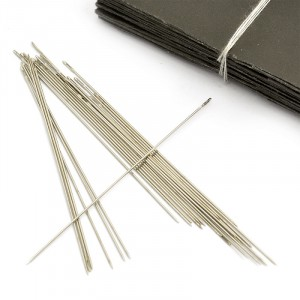 Иглы арт.ТВ NC-201 для вышивания бисером 0,5х55 мм (0340-0290), набор.10 игл