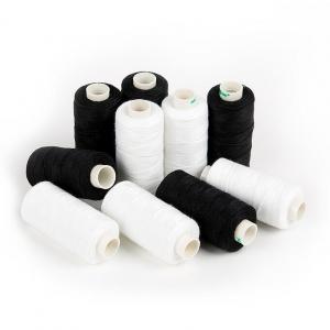 Набор бытовых ниток Dor Tak 20/3 джинсовые 183м 100% п/э, цв.черные/белые уп.10шт.