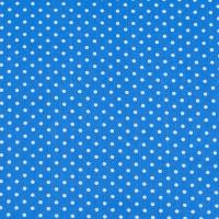 Ткань на отрез бязь плательная 150 см 1359/2 голубой фон белый горох