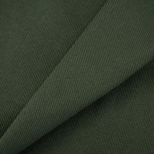 Ткань на отрез кашкорсе с лайкрой 5802-1 цвет темный хаки