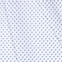 Ткань на отрез бязь плательная 150 см 1359/14А белый фон серый горох