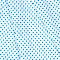 Ткань на отрез бязь плательная 150 см 1359/15А белый фон морская волна горох