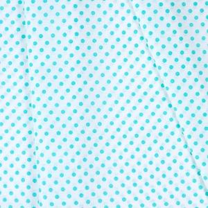 Ткань на отрез бязь плательная 150 см 1359/19А белый фон мятный горох