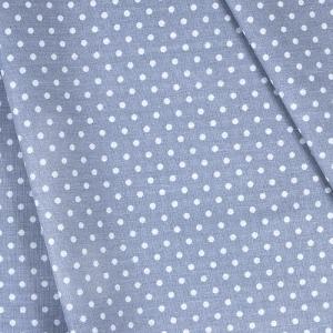 Ткань на отрез бязь плательная 150 см 1359/14 серый фон белый горох