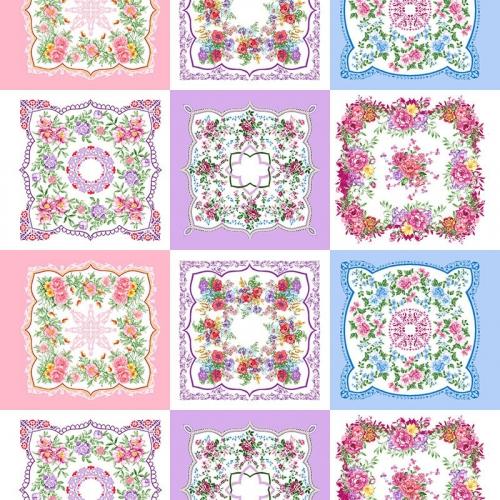 Ситец 95 см набивной арт 44 Тейково рис 21218 вид 2 Цветочная поляна