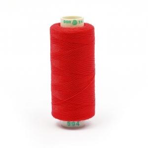 Нитки бытовые Dor Tak 40/2 366м 100% п/э, цв.594 красный