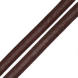 Косая бейка хлопок ширина 15 мм (132 м) цвет 7102 коричневый