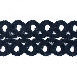 Кружево плетеное мягкое 8,5см SK-138 темно-синее упаковка 5м