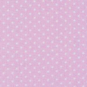 Ткань на отрез бязь плательная 150 см 7223/32 Мелкие звездочки 0.5 см о/м цвет розовый