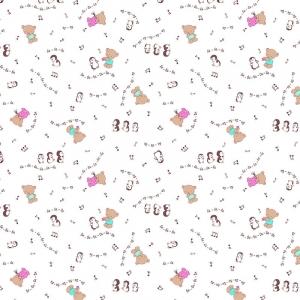 Ткань на отрез ситец 95 см 21168/1 Музыкальные нотки