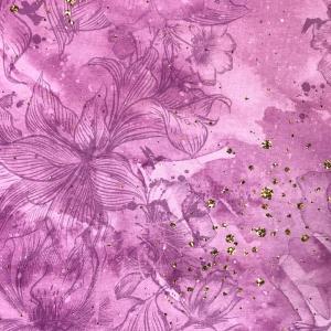 Ткань на отрез кулирка 22321 Розовые цветы