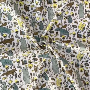 Ткань на отрез муслин 135 см 7338/1 Лесные жители