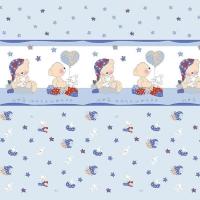 Ткань на отрез поплин 150 см 1636/2 цвет голубой