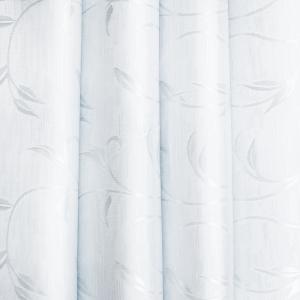 Портьерная ткань 150 см на отрез 31 цвет белый ветка