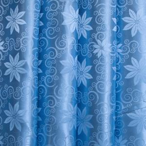 Портьерная ткань 150 см на отрез 68 цвет голубой цветы