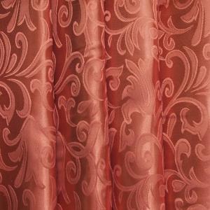 Портьерная ткань 150 см на отрез 71 цвет бронза вензель