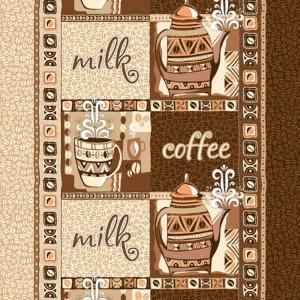 Ткань на отрез вафельное полотно 50 см 170 гр/м2 99221 Кофе