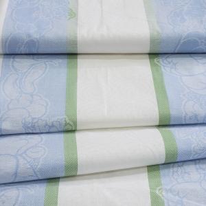 Ткань на отрез полулен полотенечный 50 см Жаккард Овощи 5 голубой